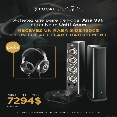 PROMOTION NAIM ATOM - FOCAL 936